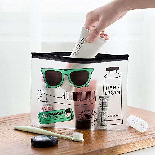 Bureze Trousse de Rangement en PVC Transparent pour Maquillage