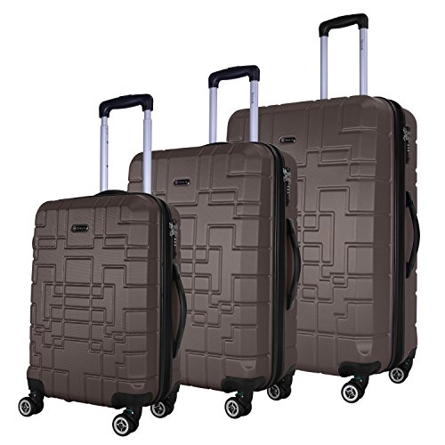 SHAIK Serie XANO HKG Design Hartschalen Trolley, Koffer, Reisekoffer, in 3 Größen M / L / XL / Set 50/80/120 Liter, 4 Doppelrollen, TSA Schloss (Koffer Set,...