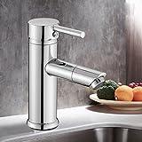 Wanfor Wasserhahn Bad mit 360 ° drehbare Düse Waschbecken Einhebelmischer Bad Wasserhahn, Küchen Badinstallation Waschtischarmaturen