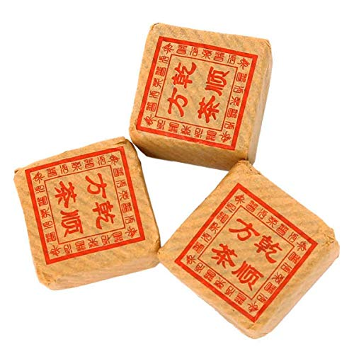 The Indian Chai Individually Wrapped Year 2008 Fermented Pu'erh Mini Bricks Tou-Cha Tea (3 Pieces, 5 Cups/Brick)