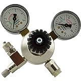 aquaristic.net CO2 Aquarium Druckminderer mit 2 Manometer + Nadelventil - Mehrwegsystem