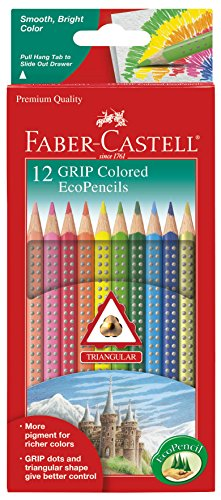 Faber-Castell Triangular Color Pencil Set of 12 Colors