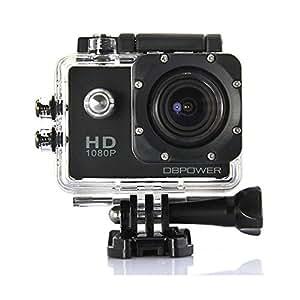 DBPOWER® HD 1080P Action Kamera wasserdicht mit 2 verbesserten Batterien und Kostenlosen Zubehör Kits