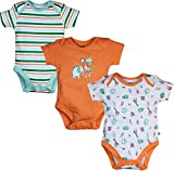 FS Mini Klub Baby Boys' Bodysuits - Pack of 3 (88EBOBS0132 MULTI_4_6 - 9 Months, Multi-Coloured, 6 - 9 Months)