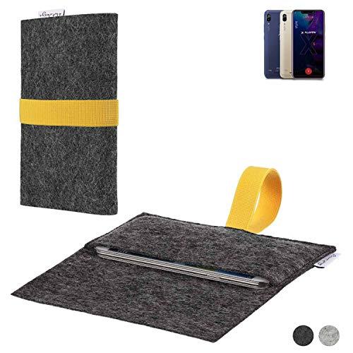 flat.design Handy Hülle Aveiro für Allview Soul X5 Style passgenaue Filz Tasche Case Sleeve Made in Germany