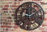 Reloj de Pared 3D Reloj antiguo europeo del anillo del engranaje Reloj retro de la pared del salón de la manera de la manera