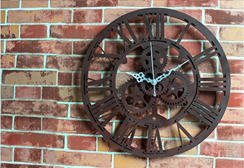 Wanduhr 3D European Antique Gear Ring Uhr Retro Mode Wohnzimmer Wanduhr