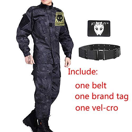 ATAIRSOFT Tactical Men BDU Kampfuniform Jacke Hemd & Hosenanzug für Army Military Airsoft Paintball Jagdkriegsspiel TYP L