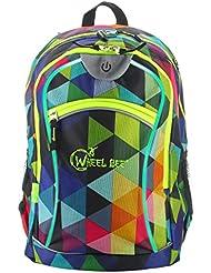 Schildkröt Funsports Unisex Wheel Bee Backpack mit Innovative Integriertem LED Licht Sowie Zusätzliche Reflektorstreifen Rucksack