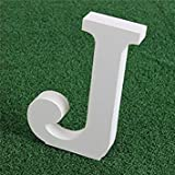 Wooden Wood White Letters Alphabet Word Free Standing Wedding Party Home Decor (J)