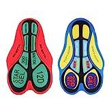 non-brand 2 Pezzi Intimo Bicicletta Pantaloncini da Ciclismo Mutande Gel 3D Imbottite Accessori per