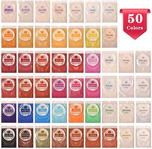 Pigmento Resina DEWEL 5g*50 Colores Pigmentos Polvo