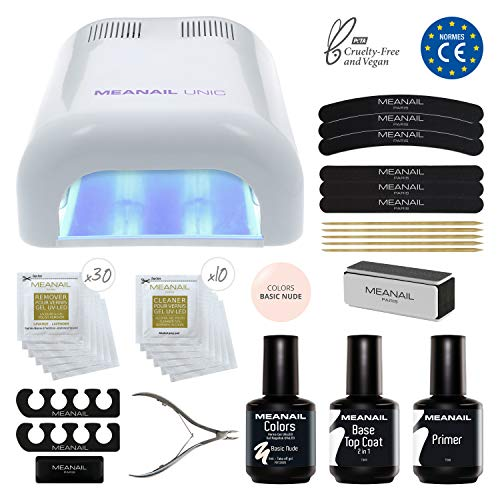 Lampara LED UV Secador de Uñas Esmalte Semipermanente Pintauñas Decoración de Uñas Kit Manicura y Pedicura Nail Factory Edition Basic