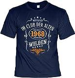 T-Shirt 50 Geburtstag - Geburtstagsshirt Sprüche Jahrgang 1968 : Mitglied im Club der Alten Wilden 1968 Jahrgang - Geschenk-Shirt Zum 50.Geburtstag Frau/Mann + lustige Urkunde Gr: XXL