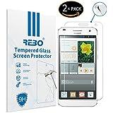 Huawei Ascend G7 Protector cristal templado - RE3O® 2 x Protector de pantalla cristal templado vidrio templado para Huawei Ascend G7 5,5'' pulgadas , Borde redondo elegante 2,5D, Fácil de instalar y sin burbujas de aire, Dureza 9H Anti-choque y Resistencia al desgaste a prueba de rasguños, Alta transparencia, Efecto anti-huella digital perfecto