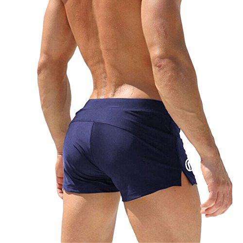 GITVIENAR Maillot Plage en Nylon Taille Basse pour Spa Natation Plage Maillot de Bain Homme Slip Dim Garçon Mode Culotte de Bleu