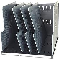 Exacompta Modulodoc Ecoblack - Clasificador vertical con 5 separadores, color negro y gris oscuro