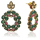 #9: Sansar India Kundan Chandbali Earrings for Girls and Women