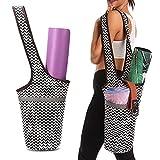 Koowaa Draagbare Multifunctionele Lichtgewicht Yoga Mat Tas Mode Canvas Draagtas Lange Tas met Zakken Fit Meest Size Matten