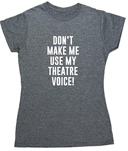 Hippowarehouse Damen T-Shirt Gr. Large, Grau Meliert (Damen Diva T-shirt Light)