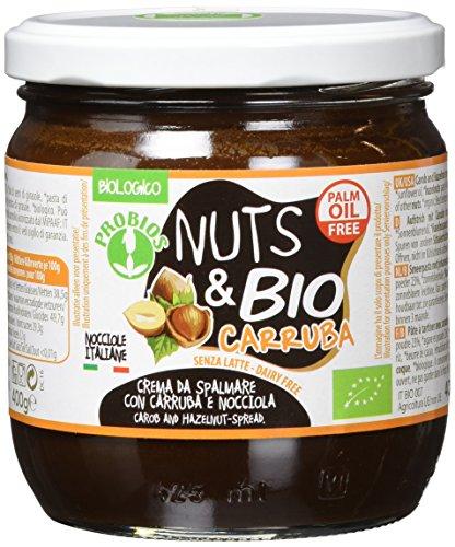 PROBIOS Nuts & Bio Carobe-Aufstrich - Ohne Milch, Ohne Zucker, 1er (1 x 400 g) (Bio-protein-milch)