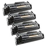 4x Toner-Patrone XL Schwarz für Canon FX-10 I-Sensys MF4270 PC-D440 PC-D450 Telekom Fax 900 PlatinumSerie