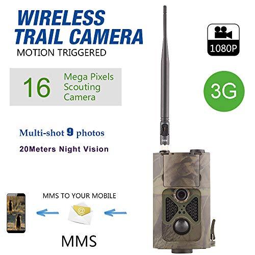 NINI 3G-Jagdkamera, Wildlife Trail Kamera Fotofalle und 1080P wasserdicht Spielkamera Forest HD MMS Überwachungskamera (Trail Kameras Bushnell)