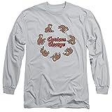 Curious George  Herren T-Shirt Gr. Small, silber