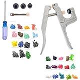 WINOMO KAM fixation Snap Kit pinces avec 150pcs T3 T5 150pcs boutons en plastique couleur aléatoire