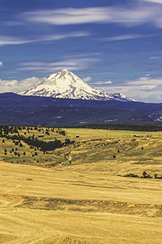 Countryside in Oregon with Mt. Hood Journal: 150 page lined notebook/diary (Hood Mt)