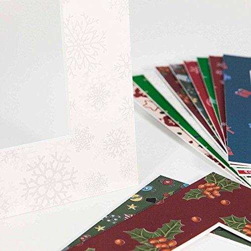 Exklusiv Passepartouts Weihnachten - Museumsqualität - verschiedene Motive in allen Größen - Weihnachten-0076 (Motiv) - (Außen: 50x70 / für Bildgröße: 30x45)