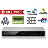 PANASONIC DMP-BDT270 4K/2H Upscaling - 2D/3D- Built-in Wi-Fi - Multizone All Region Code Free DVD Blu ray Player - 1 USB, 1 HDMI , 1 ETHERNET Connections + 2 meters HDMI Cable Included. 100-240V 50/60Hz Comes with UK Lead