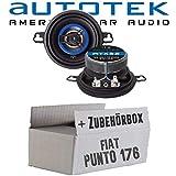 FIAT Punto 1 176 - Altoparlante frontale ATX-32 a 2 vie, 8,7 cm, altoparlante coassiale 87 mm, set di montaggio