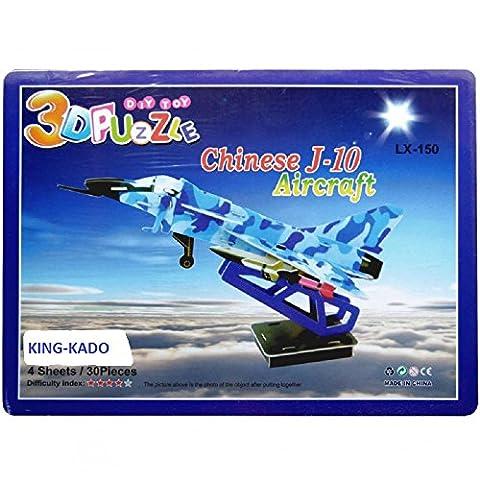 S1 / Avion J-10 LX-150 Puzzle 3D - 30 Pièces en carton