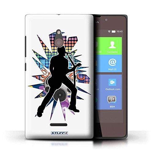 Kobalt® Imprimé Etui / Coque pour Nokia XL / Hendrix Blanc conception / Série Rock Star Pose Chanteur Blanc