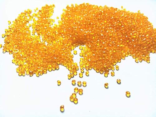 Jane Shop Acryl-Diamanten, 2,5 mm Acrylfarbe, künstliche runde Kristalle, 2,2 cm Tisch-Konfetti-Kristalle für Tischkonfetti, Tischstreuer, Vasenfüller, Partydekoration (10.000 Stück) 2.5 mm Gold (Gold Vase Filler)