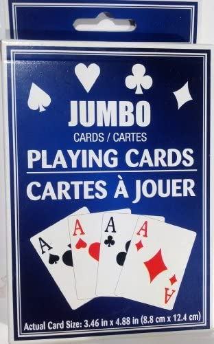 La paix est une bénédiction de fruit Jumbo Playing Cards Deck | Simple D'utilisation