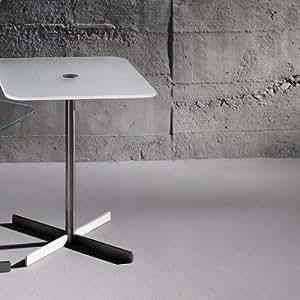 Table d'appoint lido dimensions :  45 x 46 x 46 cm, couleur :  optiwhite satiné