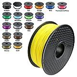TIANSE Fluoreszierend Gelb 3D PLA Filament 1,75 mm für 3D Drucker 1 kg, Dimensionsgenauigkeit +/- 0,03 mm