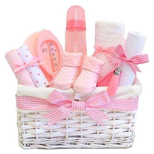 Lola BLANC en osier/panier cadeau pour bébé bébé Panier/bébé/Cadeau de douche NEW ARRIVAL Souvenir de bébé/Cadeau/envoi rapide