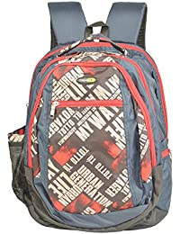 Trendz Polyester 15 Liters Blue And Red School Bag