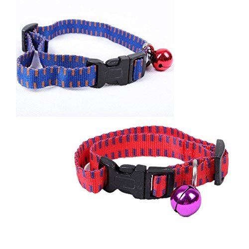 Fully 2x Ungezieferhalsband Zeckenhalsband Flohhalsband 3 Monat wirksam für Katzen Hunde (für Hunde M (Halsumfang: 25-41cm/9.84-16.14'), zufällig)