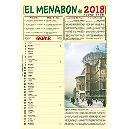 El Menabon. Calendario 2018. Con Libro