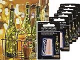 Bada Bing 6er Set LED Flaschenkorken Lichterkette 8 LEDs Deko Licht Origineller Flaschenverschluss Mit Stimmungslicht Gartendekoration Korken Optik 13