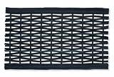 William Armes Dandy Link - Felpudo realizado a partir de neumáticos reciclados (75x45cm), color negro
