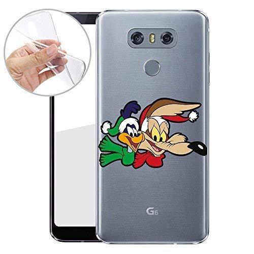 Finoo TPU Handyhülle für Dein LG G6 Made In Germany Hülle mit Motiv und Optimalen Schutz Silikon Tasche Case Cover Schutzhülle für Dein LG G6 - Roadrunner Wile Coyote Roadrunner Audio