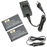 DSTE 2-pack Rechange Batterie et DC134E Voyage Chargeur pour Sony NP-BX1Cyber-shot CX240HDR-PJ10E CX240E DSC RX10II RX1B DSC-RX1R DSC-RX1DSC-RX1R/B DSC-RX100DSC-RX100II DSC-RX100III
