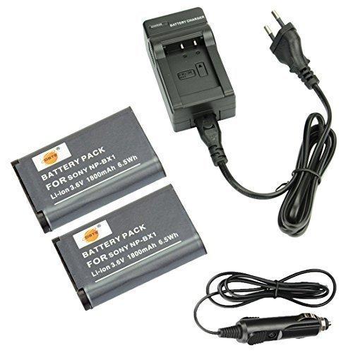 dste-2-pacco-ricambio-batteria-dc134e-caricabatteria-per-sony-np-bx1-cyber-shot-cx240-hdr-pj10e-cx24