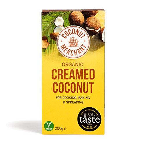 Crema de Coco Orgánica Coconut Merchant 200g (Paquete de 1)