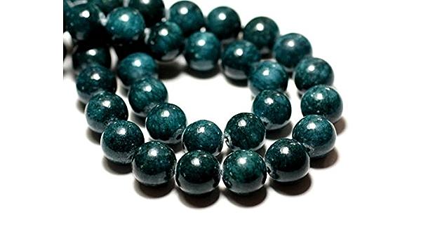 Perles de Pierre Fil 39cm 46pc env Jade Boules Facettées 8mm Vert Emeraude